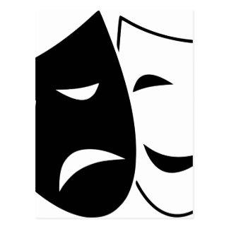 Postal Máscaras de la tragedia de la comedia