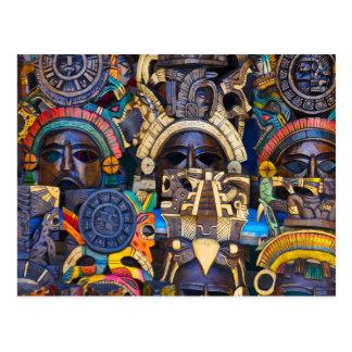 Postal Máscaras de madera mayas para la venta