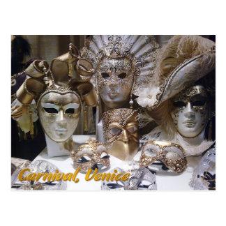 Postal Máscaras de Venecia Carnaval