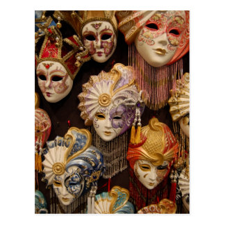 Postal Máscaras del carnaval en Venecia