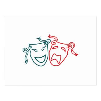 Postal Máscaras del drama