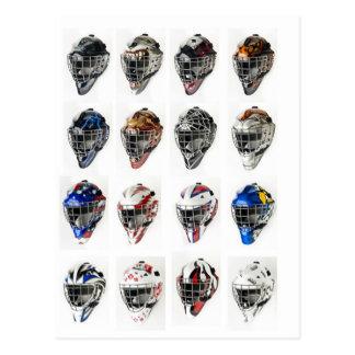 Postal Máscaras del hockey