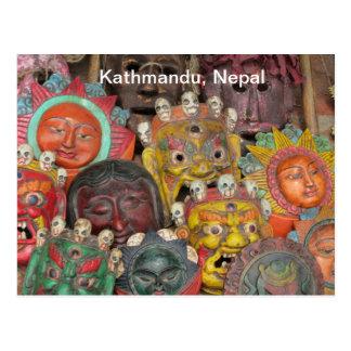 Postal Máscaras en Boudhanath