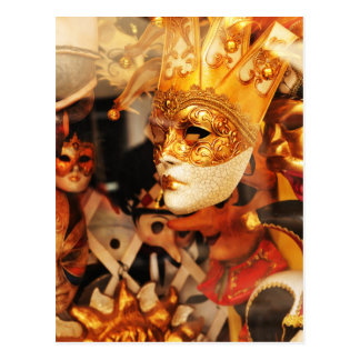 Postal Máscaras venecianas