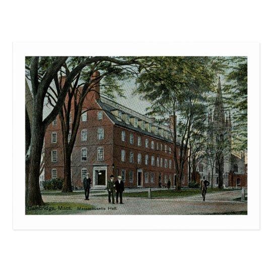 Postal Massachusetts Pasillo, vintage de Cambridge