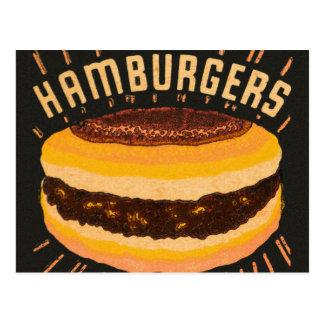 Postal Matchbook del cheeseburger de las hamburguesas del