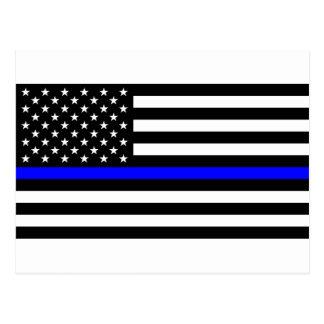 Postal Materia azul de las vidas - la policía de la