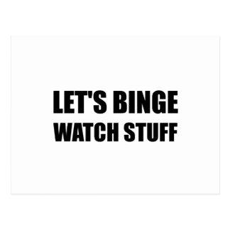 Postal Materia del reloj del Binge