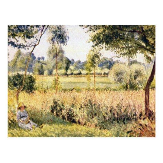 Postal Matin un Eragny de Camille Pissarro