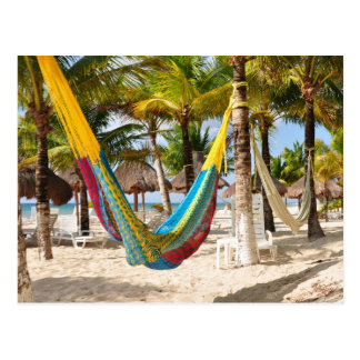 Postal maya colorida de Cozumel México de la