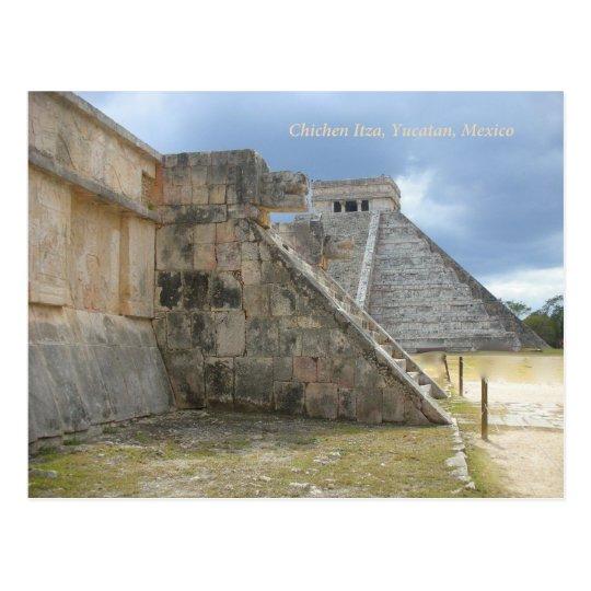 Postal maya de México de la ruina de Chichen Itza