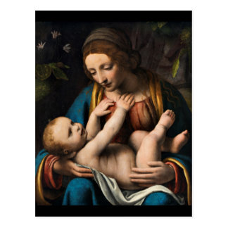 Postal MED Kristusbarnet de Madonna
