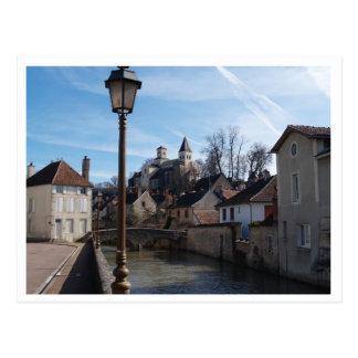 Postal Medeaval Chatillon-sur-Siene Borgoña
