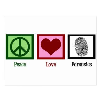 Postal Medecina legal del amor de la paz