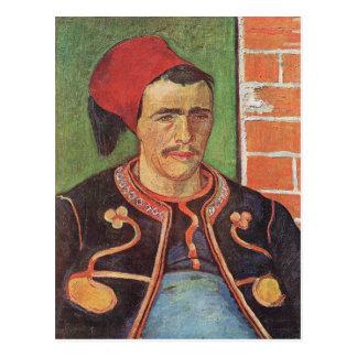 Postal Media figura de Zouave de Vincent van Gogh