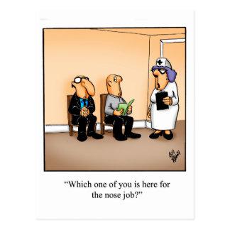 Postal médica divertida del humor