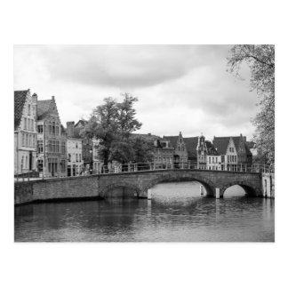 Postal medieval del puente de Brujas