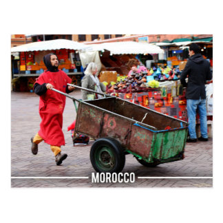 Postal Medina de Marrakesh - Marrakesh Souk, Marruecos