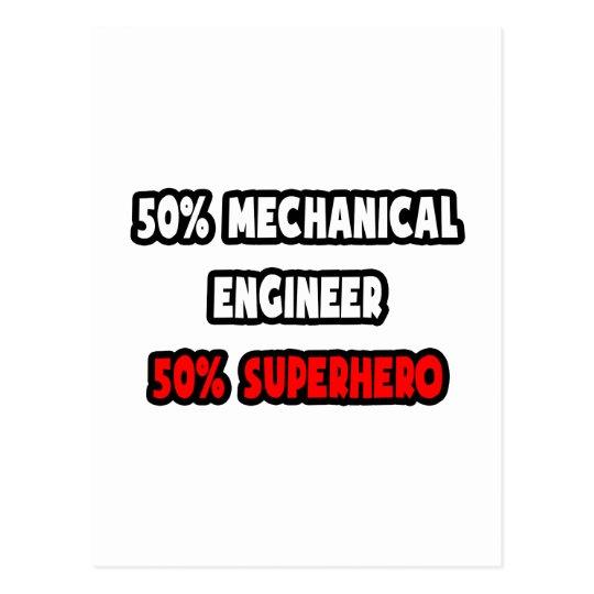 Postal Medio super héroe del ingeniero industrial… a