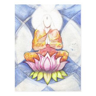 Postal Meditación Lotus