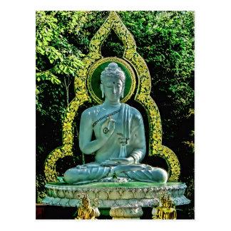 Postal Meditating de Buda