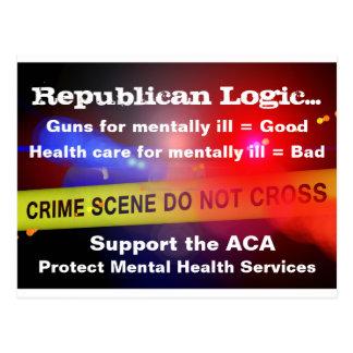 Postal mental de los servicios médicos del ACA de