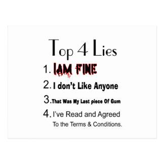 Postal Mentiras del top 4
