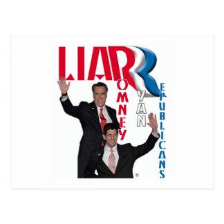 Postal Mentiroso - Mitt Romney y Paul Ryan