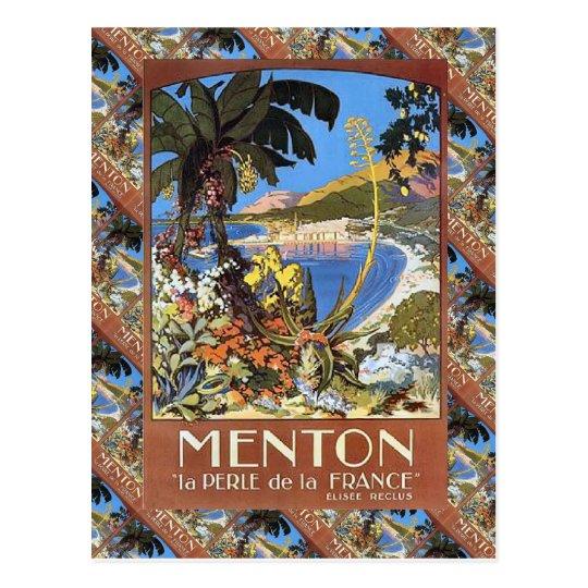 Postal Menton, la Francia de Le perle de