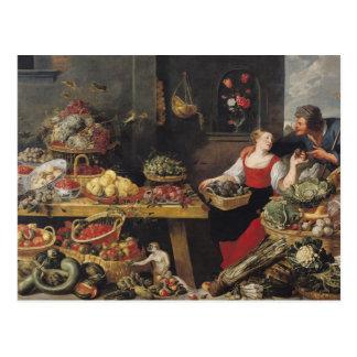 Postal Mercado de la fruta y verdura