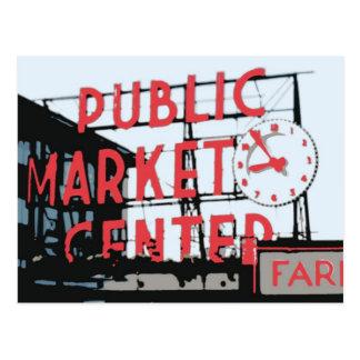 Postal - mercado de lugar de Pike