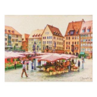 Postal Mercado de Nuremberg en Alemania por el mac de