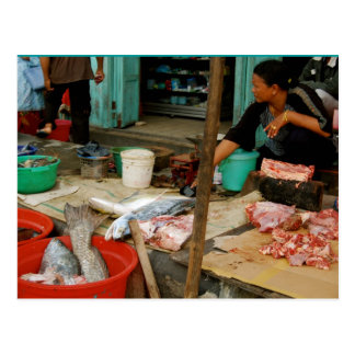 Postal Mercado de pescados Kalimantan cerca de