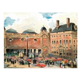 Postal Mercado del jardín de Covent