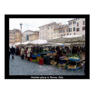 Postal Mercado en Roma, Italia