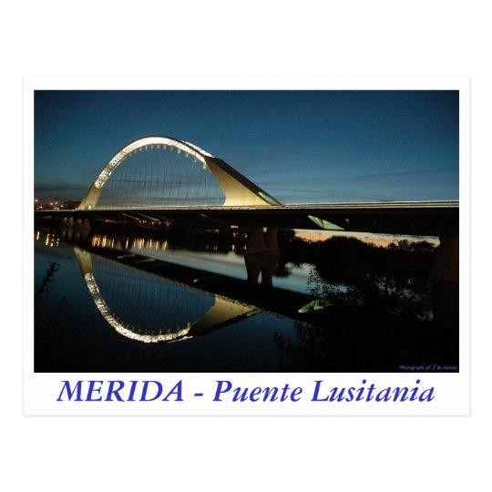 Postal MERIDA - Puente Lusitania