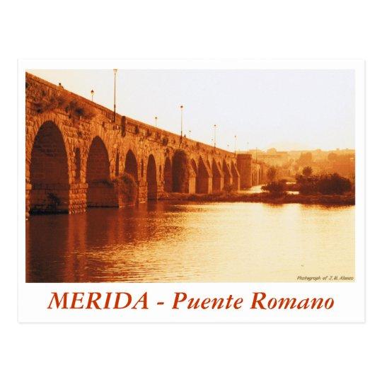 Postal MERIDA - Puente Romano