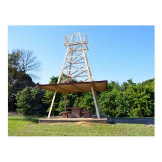 Postal Mesa de picnic de la torre de perforación de