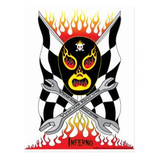Postal mexicana del luchador de Luchador del infie