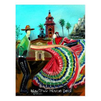 Postal MEXICANA HERMOSA de la DANZA