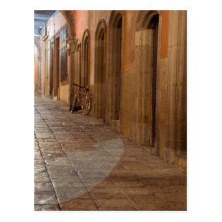 Postal México, San Miguel de Allende, acera con