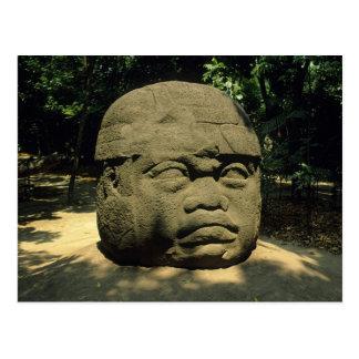Postal México, Villahermosa, cabeza gigante de Olmec, La