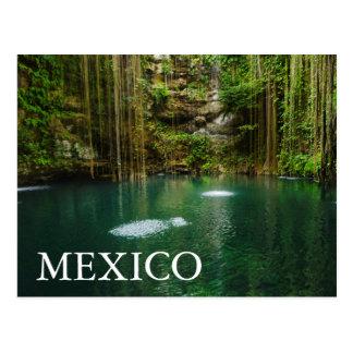 Postal México, Yucatán, lago escénico