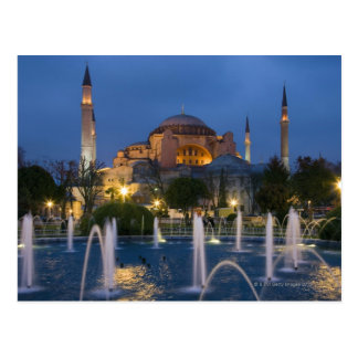 Postal Mezquita azul, Estambul, Turquía