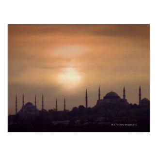Postal Mezquita azul y Hagia Sophia Turquía, Estambul