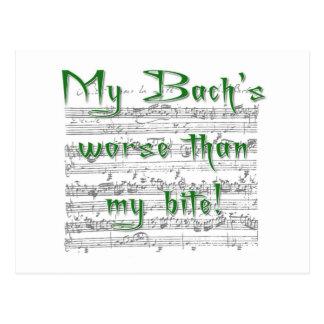 Postal ¡Mi Bach peor que mi mordedura!