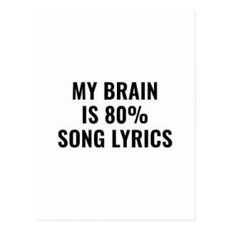 Postal Mi cerebro es letras de la canción del 80 por
