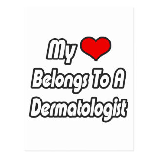Postal Mi corazón pertenece a un dermatólogo