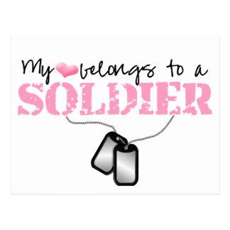 Postal Mi corazón pertenece a un soldado