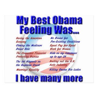 Postal Mi mejor sensación de Obama era…